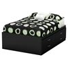 Step One Full Captain Bed - 4 Drawers, Pure Black
