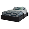 Step One Queen Storage Bed - Pure Black
