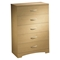Step One Natural Maple Bedroom Set with Storage Bed - SS-3013-5PC