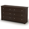 Vito 6-Drawer Dresser in Chocolate - SS-3119010