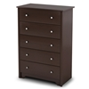 Vito 5-Drawer Chest in Chocolate