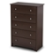 Vito 5-Drawer Chest in Chocolate - SS-3119035