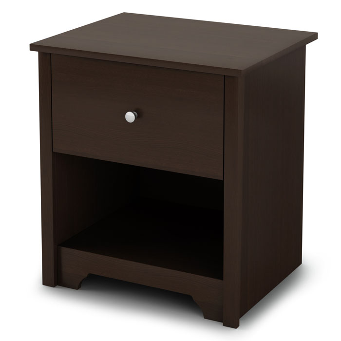 Vito Single Drawer Nightstand in Chocolate - SS-3119062