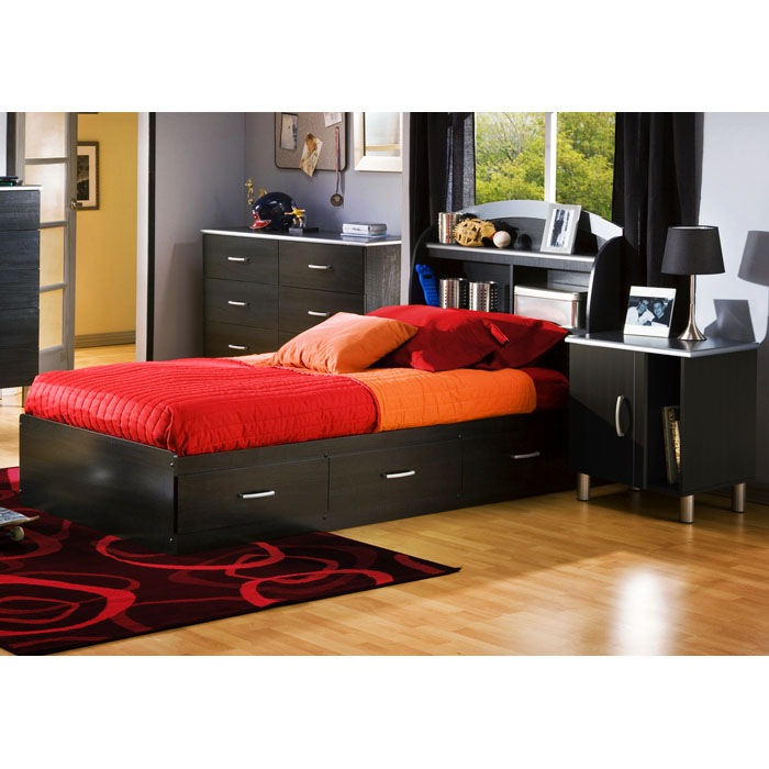 Cosmos Modern Twin Mate's Bed - SS-3127080