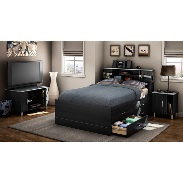 Cosmos Modern Full Size Storage Bed - SS-3127209-3127093