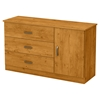Libra Dresser - Door, 3 Drawers, Country Pine