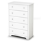 Vito 5-Drawer Chest in White - SS-3150035