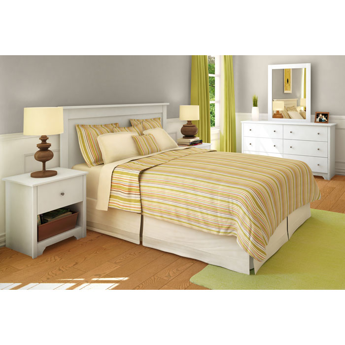 Vito Single Drawer Nightstand in White - SS-3150062