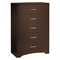 Step One 4 Piece Chocolate Storage Bedroom Set - SS-3159-4PC