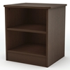 Libra Chocolate Nightstand with 2 Open Shelves