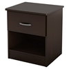 Libra Nightstand - 1 Drawer, Chocolate