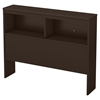 Libra Twin Bookcase Headboard - Chocolate