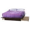Step One Full/Queen Platform Bed - 2 Drawers, Chocolate