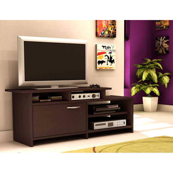 Step One TV Stand with Asymmetrical Shelves - SS-3159661