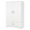 Step One Armoire - 2 Doors, Pure White