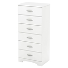 Step One Chest - 6 Drawers, Pure White