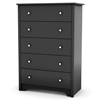 Vito 5-Drawer Chest in Black