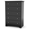 Vito 5-Drawer Chest in Black - SS-3170035