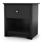 Vito Single Drawer Nightstand in Black