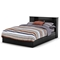 Vito Queen Black Mate's Bed with Bookcase Headboard - SS-3170210-3170092