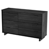 Fynn Double Dresser - 6 Drawers, Gray Oak