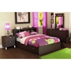 Cacao 4 Piece Full Bookcase Bedroom Set