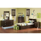 Cacao Youth Bedroom Set with Twin Mates Bed