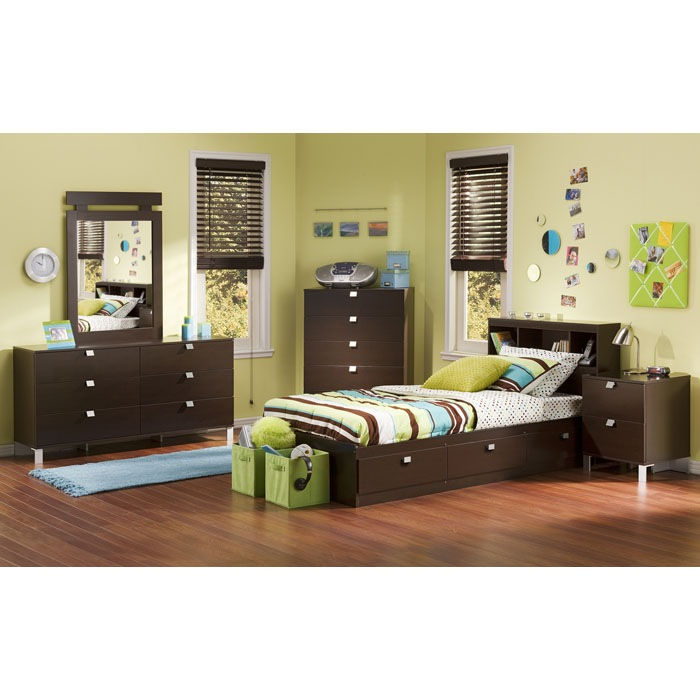 Cacao Twin Mate's Bed in Chocolate - SS-3259080