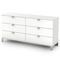 Sparkling 6-Drawer Dresser in Pure White - SS-3260010