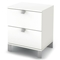 Sparkling 2-Drawer Nightstand in Pure White - SS-3260060