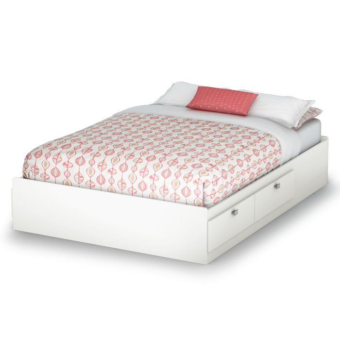 Sparkling Full Mate's Bed in Pure White - SS-3260211
