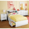 Sparkling 4 Piece Bedroom Set in White