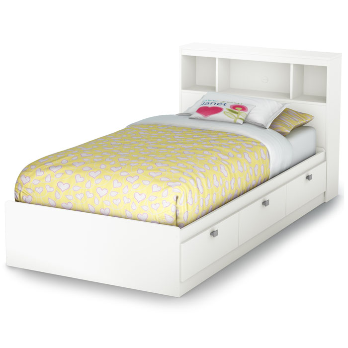 Sparkling 4 Piece Bedroom Set in White - SS-3260-4PC
