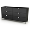 Spark 6-Drawer Dresser in Black - SS-3270010