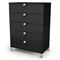 Spark 5-Drawer Chest in Black - SS-3270035