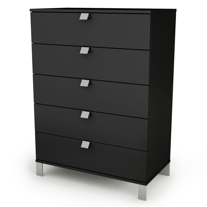 Spark 5-Drawer Chest in Black