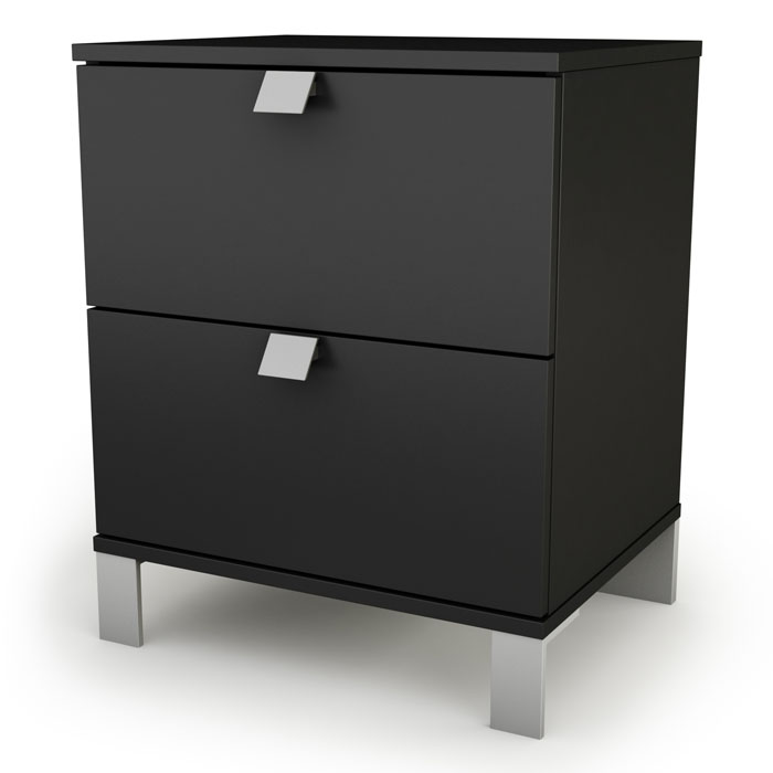 Spark 2-Drawer Nightstand in Black