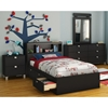 Spark 4 Piece Youth Bedroom Set in Black