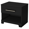 Primo 1 Drawer Nightstand - Pure Black
