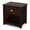 Willow Transitional Nightstand in Havana Brown