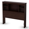 Willow Bookcase Headboard in Havana Brown