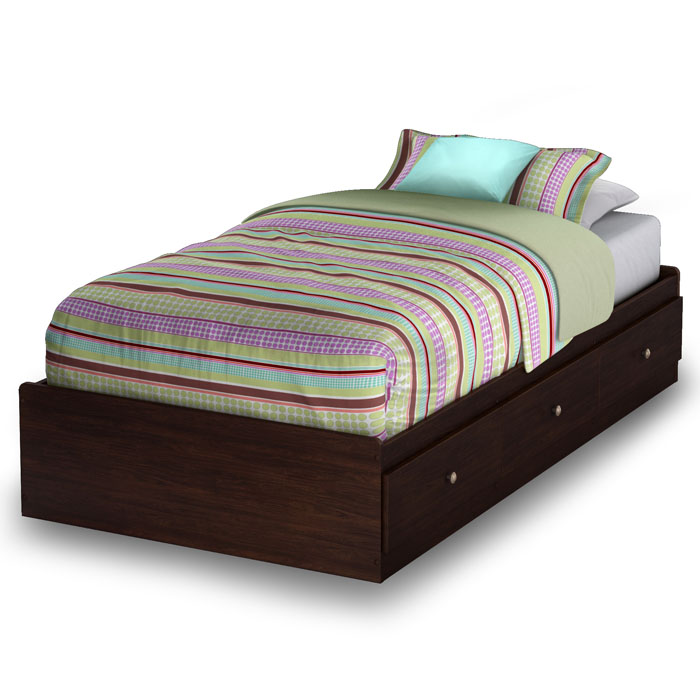 Willow Twin Mate's Platform Bed in Havana Brown - SS-3339212