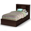 Willow Twin Mate's Bookcase Bed in Havana Brown