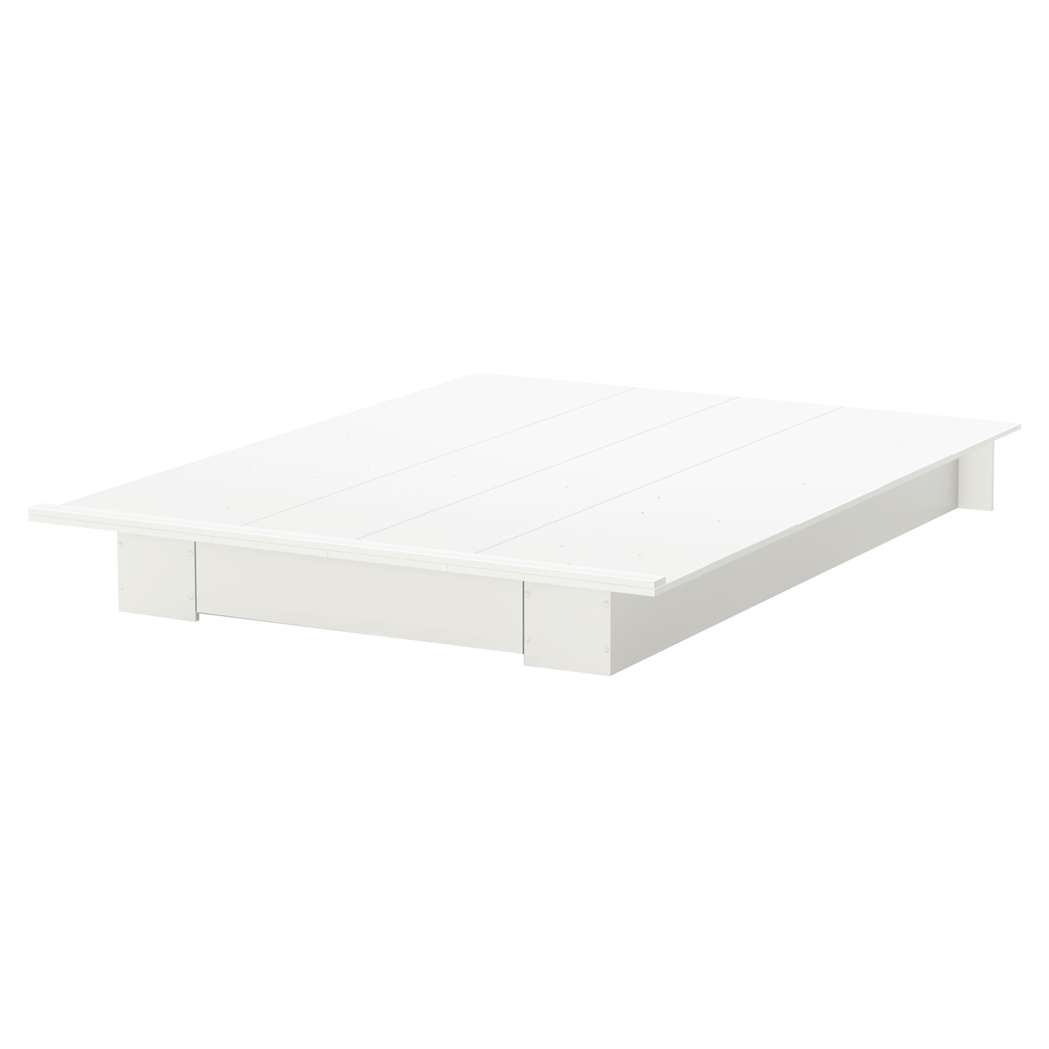 Holland Full/Queen Platform Bed - 1 Drawer, Pure White