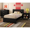 Flexible 3 Piece Kids Bedroom Set in Black Oak