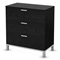 Flexible Black Oak 3-Drawer Chest - SS-3347033