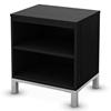 Flexible Black Oak 2-Shelf Nightstand