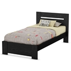 Flexible Twin Panel Bed in Black Oak