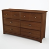 Willow Cherry Bedroom Dresser with 6 Drawers