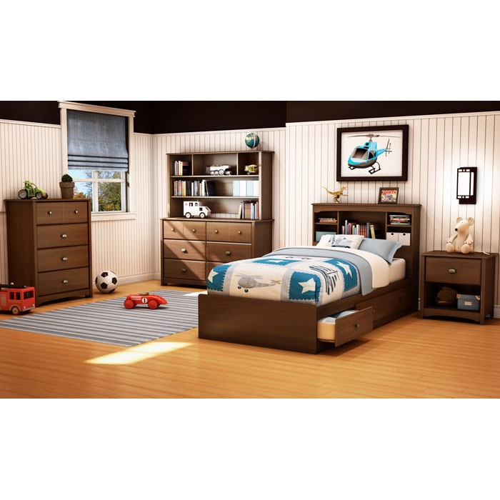 Willow Twin Size Mate's Platform Bed in Cherry - SS-3356212